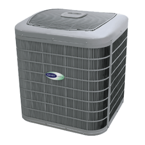 Carrier Infinity 20 with Greenspeed Intelligence central air conditioner.