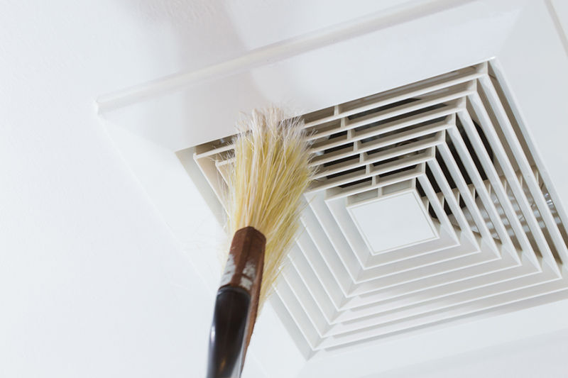 Cleaning Air Duct with Brush