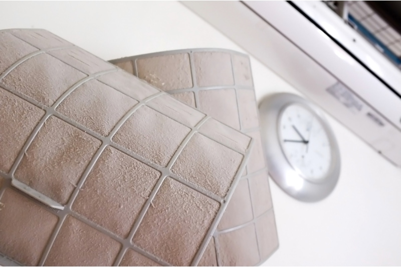 Dirty air condition filter: Air conditioning's filter is a device made up of knitted string, meshed material that traps and removes dirt from the surrounding air. Respiratory tract or lung disease